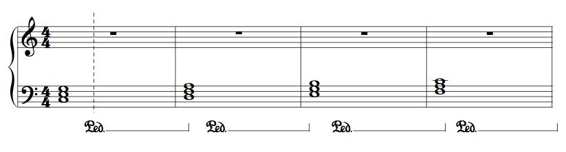 علامت PEA در پیانو