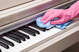 چگونه پیانو را تمیز کنیم
