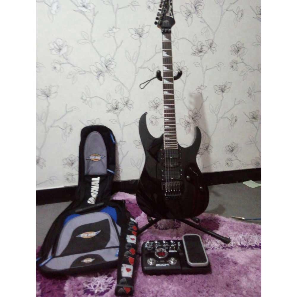 گیتار الکتریک ایبانز RG370DX و افکت ZOOMG2.1U