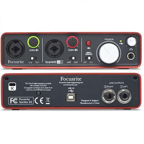 کارت-صدا-focusrite-2i2-g2