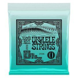 Ernie Ball ConcertSoprano Nylon Ball End Ukulele Strings-Black