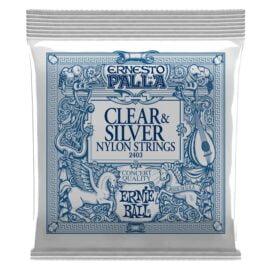 Ernie Ball Ernesto Palla Nylon Clear and Silver