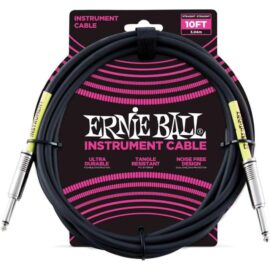 Ernie Ball Cavo strumento Nero Jack 3 mt-کابل-گیتار